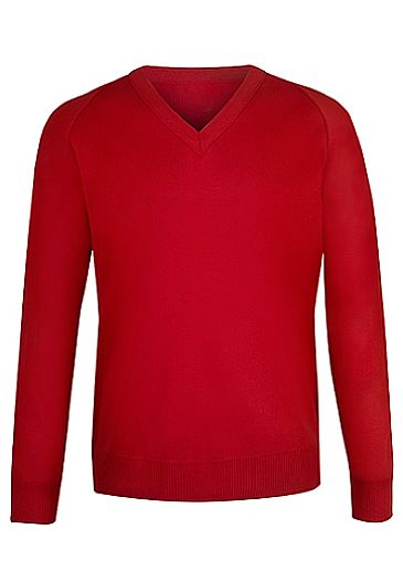Raglan Sleeve Pullover Red