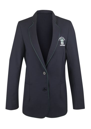 Girls Blazer with Edge Trim